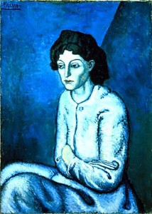 Use of blue colour in Pablo Picasso's paintings