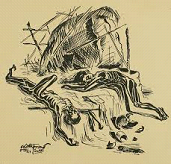Sketch of Hungry Bengal by Chittoprasad Bhattacharya