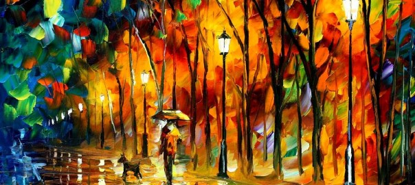 MY BEST FRIEND -Painting By Leonid Afremov